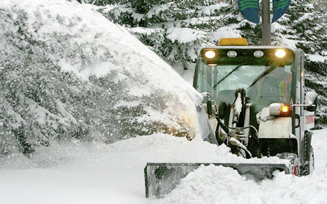 Clearing snow pic