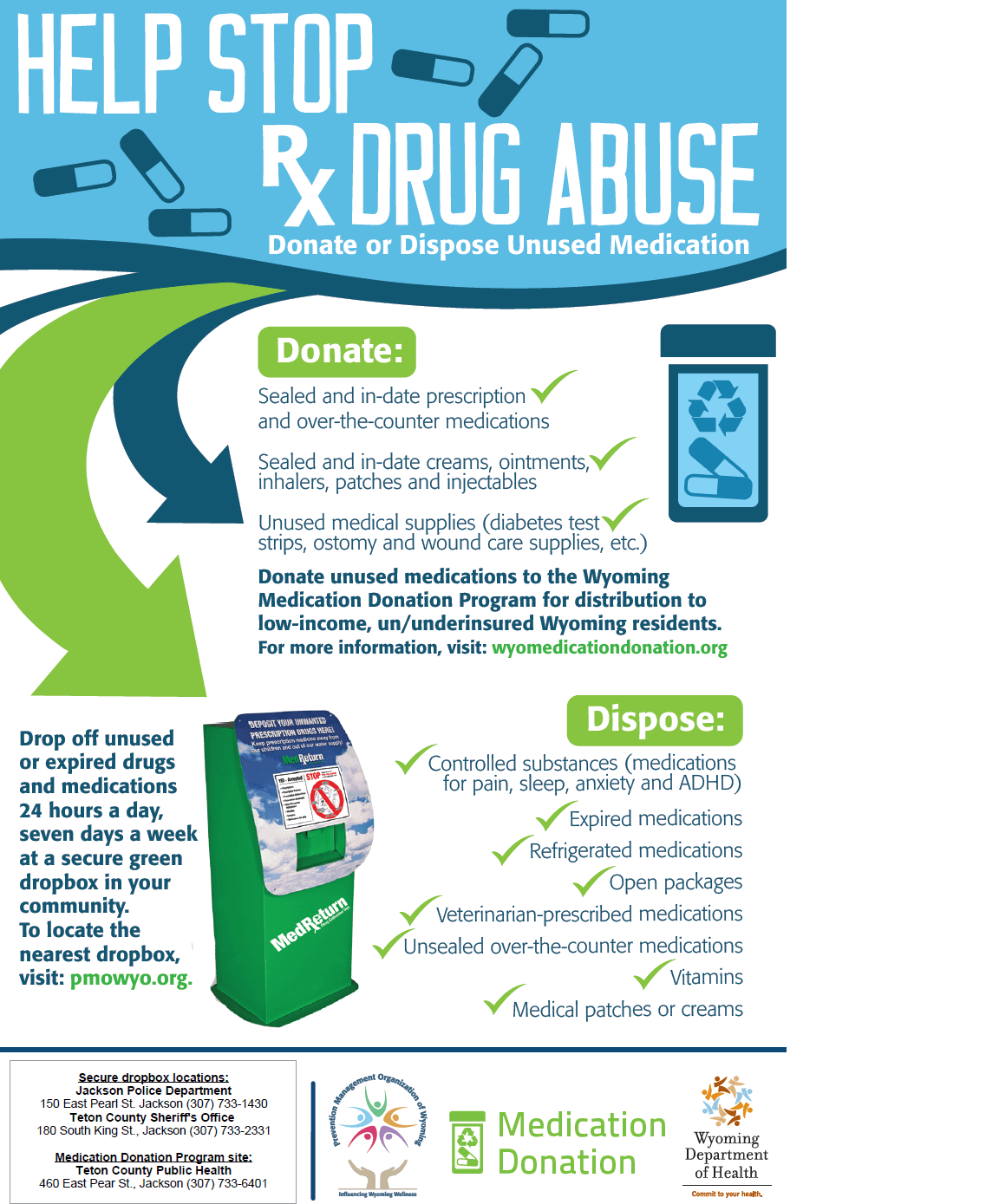 Help Stop Presecription Drug Abuse Flyer